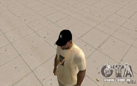 Cap newyorkyankiys preto para GTA San Andreas