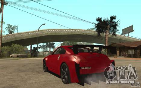 Nissan 350Z Supreme para GTA San Andreas traseira esquerda vista