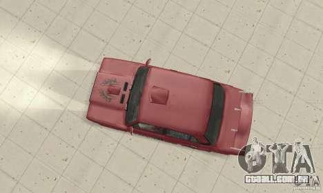 VAZ 2107 Ex Tuning para GTA San Andreas traseira esquerda vista