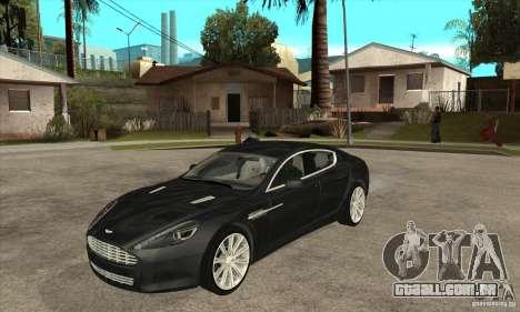 Aston Martin Rapide 2010 para GTA San Andreas