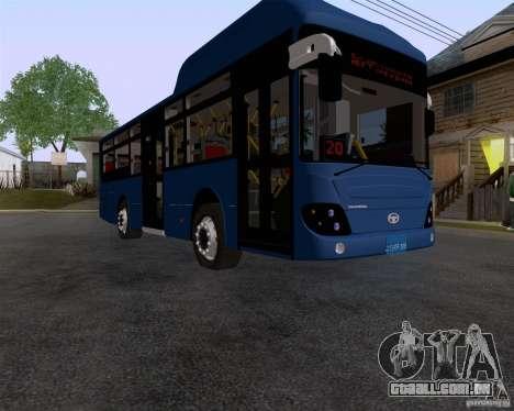 Daewoo Bus BAKU para GTA San Andreas vista direita