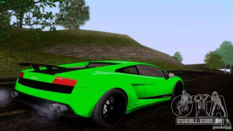 Lamborghini Gallardo LP570-4 Superleggera para GTA San Andreas traseira esquerda vista