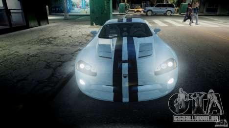 Dodge Viper SRT-10 para GTA 4 vista superior