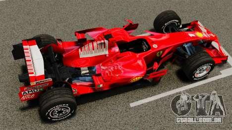 Ferrari F2008 para GTA 4 vista direita