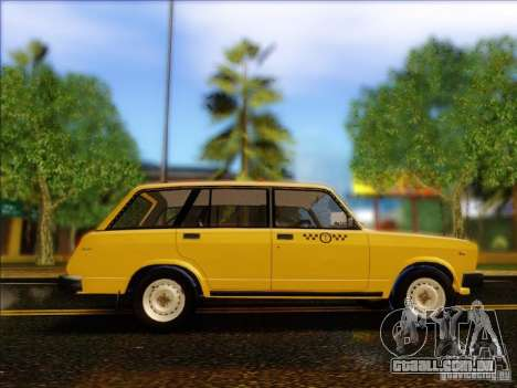 VAZ 2104 táxi para GTA San Andreas vista traseira