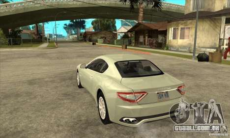 Maserati Gran Turismo 2008 para GTA San Andreas traseira esquerda vista