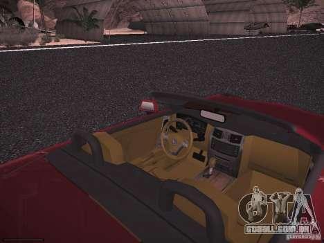 Cadillac XLR 2006 para GTA San Andreas vista traseira