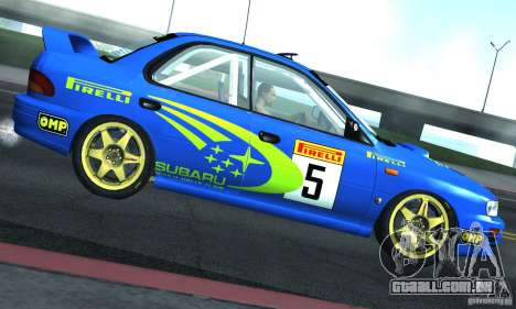 Subaru Impreza 1995 World Rally ChampionShip para GTA San Andreas vista traseira