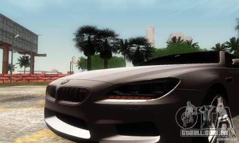 BMW M6 Coupe 2013 para GTA San Andreas vista direita
