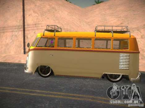 Volkswagen Type 2 Custom para GTA San Andreas vista interior