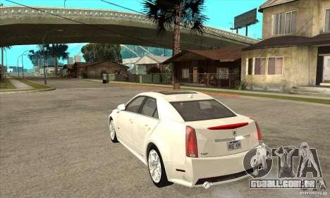 Cadillac CTS-V 2009 v2.0 para GTA San Andreas traseira esquerda vista