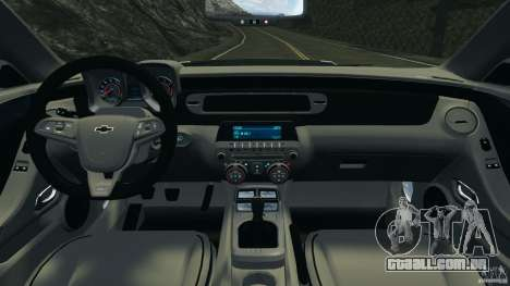 Chevrolet Camaro ZL1 2012 v1.0 Flames para GTA 4 vista de volta