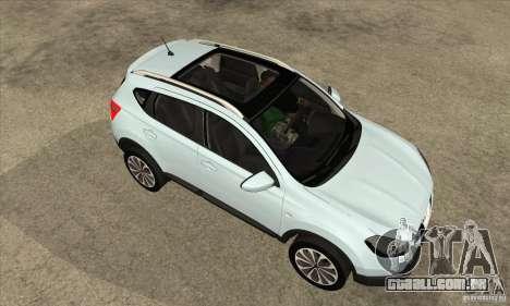 Nissan Qashqai 2011 para GTA San Andreas vista interior