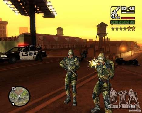 Agrupando os tormentos da liberdade para GTA San Andreas segunda tela