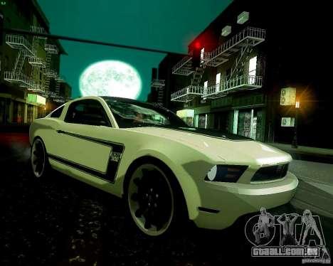 Ford Mustang Boss 302 2011 para GTA San Andreas vista traseira