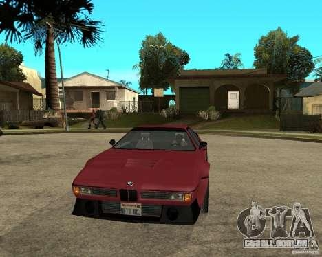 BMW M1 para GTA San Andreas vista traseira
