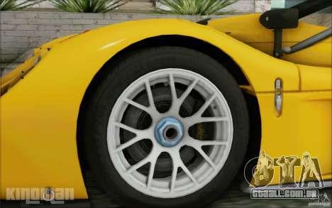 Radical SR3 RS 2009 para GTA San Andreas traseira esquerda vista