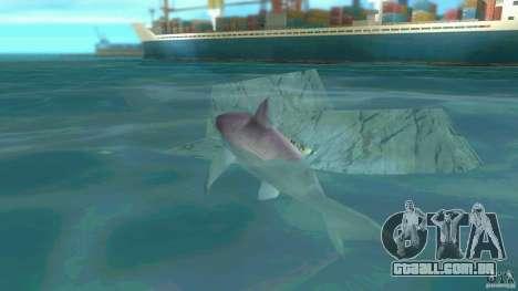 Shark Boat para GTA Vice City vista traseira esquerda