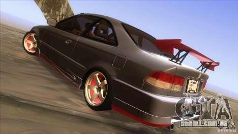 Honda Civic SI para GTA San Andreas vista superior
