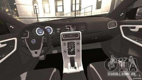 Volvo S60 R-Designs v2.0 para GTA 4 vista de volta