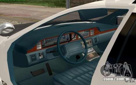 Chevrolet Caprice Police para GTA San Andreas vista traseira