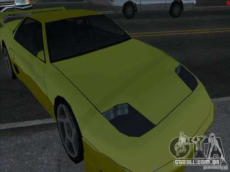 Cores mais brilhantes para carros para GTA San Andreas terceira tela