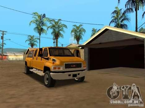 GMC TopKick para GTA San Andreas vista interior