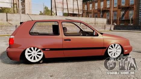 Volkswagen Golf MK3 Turbo para GTA 4 esquerda vista