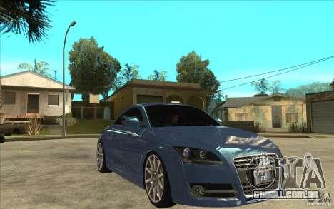 Audi TT 3.2 Coupe para GTA San Andreas vista traseira