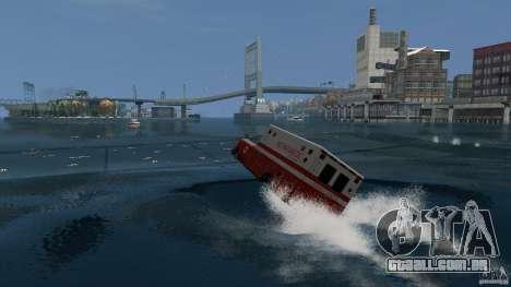 Ambulance boat para GTA 4 esquerda vista