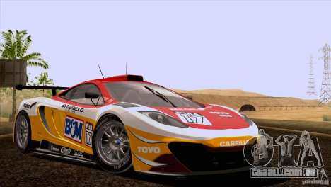 McLaren MP4-12C Speedhunters Edition para GTA San Andreas vista inferior