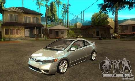 Honda Civic Si - Stock para GTA San Andreas