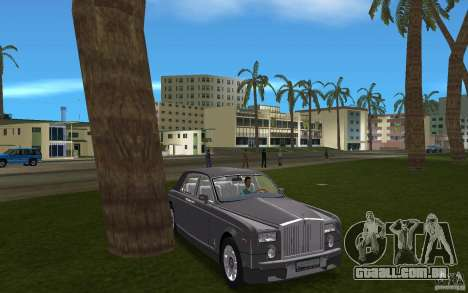 Rolls Royce Phantom para GTA Vice City vista traseira