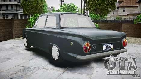 Lotus Cortina S 1963 para GTA 4 vista inferior