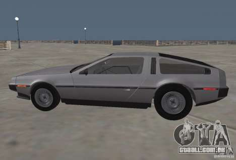 DeLorean DMC-12 para GTA San Andreas esquerda vista