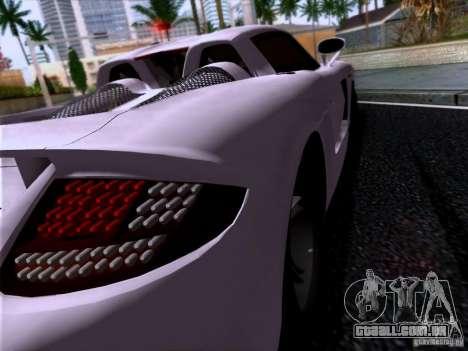 Porsche Carrera GT para GTA San Andreas traseira esquerda vista