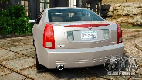 Cadillac CTS-V 2004 para GTA 4 traseira esquerda vista