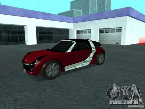 Smart Roadster Coupe para GTA San Andreas vista interior