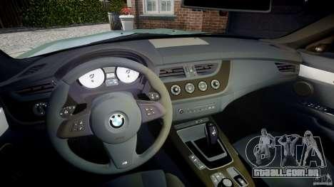 BMW Z4 sDrive35is 2011 v1.0 para GTA 4 vista de volta