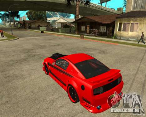 Ford Mustang Red Mist Mobile para GTA San Andreas esquerda vista