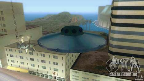 Ufo Hunter para GTA Vice City vista traseira esquerda