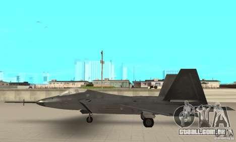 YF-22 Black para GTA San Andreas esquerda vista