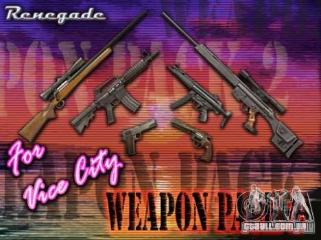 Gunpack from Renegade para GTA Vice City