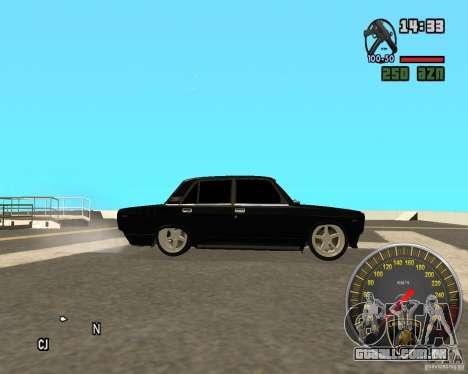 VAZ 2107 DuB para GTA San Andreas esquerda vista