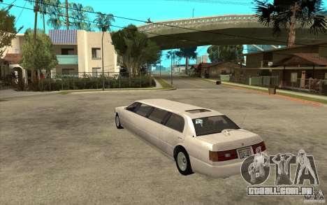 Stretch - GTA IV para GTA San Andreas traseira esquerda vista