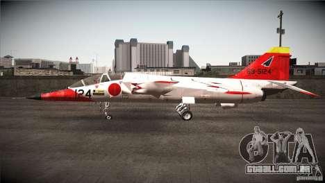 Mitsubishi T-2 para GTA San Andreas esquerda vista