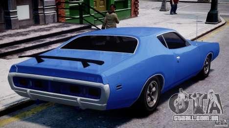 Dodge Charger RT 1971 v1.0 para GTA 4 traseira esquerda vista