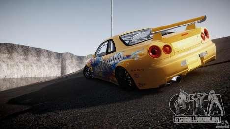 Nissan Skyline R34 GT-R Tezuka Goodyear D1 Drift para GTA 4 interior