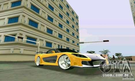 Mazda RX7 VeilSide para GTA Vice City vista direita