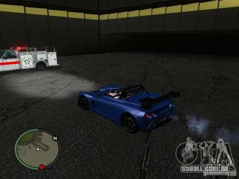 Lotus 2-Eleven 2009 para GTA San Andreas traseira esquerda vista